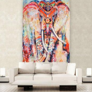 Abstract Elephant Tapestry
