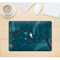 """The Dark Vector Teal Jelly Fish Skin Kit for the 12"""" Apple MacBook (A1534)"""