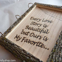 Rustic Wedding Guest Book Customized Parchment Bark Large Names Dates