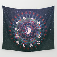 Trippy Wall Tapestry by Sara Eshak