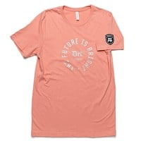 The Future is Bright Tee - Peach/Silver