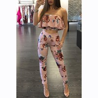 Cute Two Piece Bodycon Jumpsuit