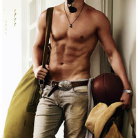 Channing Tatum Shirtless Portrait Poster 11x17
