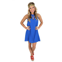 On Patio Time Dress in Royal Blue | Impressions Online Women's Clothing Boutique