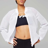 Hexagon Mesh Bomber Jacket by Ivy Park - Ivy Park - Clothing
