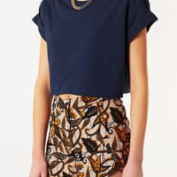 Roll Back Crop Tee - New In This Week - New In - Topshop USA
