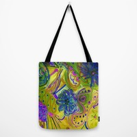 Lucky Wishbone Tote Bag by RokinRonda | Society6