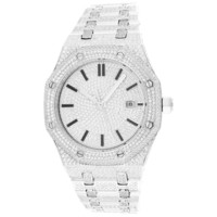 Men's  Stainless Steel White Finish Automatic Watch