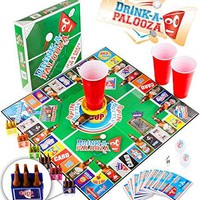 """DRINK-A-PALOOZA Party Board Game: combines """"old-school"""" & """"new-school"""" Drinking Games featuring Beer Pong, Flip Cup, Kings Cup, card games & all the best Party Games for Adults"""