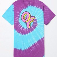 Odd Future OFWGKTA BIG OF DONUT LOGO TIE-DYE T-Shirt NWT 100% Authentic