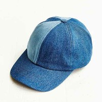 AZY4UO Patched Denim Baseball Hat - Blue Multi One