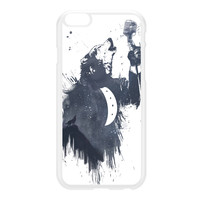 Wolf Song 3 White Hard Plastic Case for iPhone 6 Plus by Balazs Solti