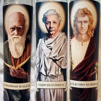 Saints of Science Fathers of Modern Science Trinity - 3 Candles