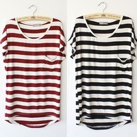 Striped Loose T-Shirt from KeuTokki