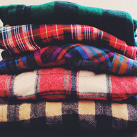 Mystery Hipster Oversized Vintage Flannel Shirt
