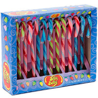 Jelly Belly Candy Canes - Tutti Fruitti, Blueberry, & Watermelon: 12-P