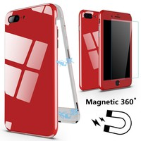 360 Magnetic Phone Case For iphone 6 s 6S plus iphone 7 Plus 7Plus Luxury Cover Coque Case For iphone 8 plus iphone X 10 Cases
