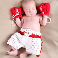 Newborn Baby Girls Boys Crochet Knit Costume Photo Photography Prop = 4457624772