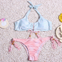 Fashion tassel triangle bikini