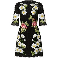 Dolce & Gabbana Embroidered Flowers Lace Dress | Harrods