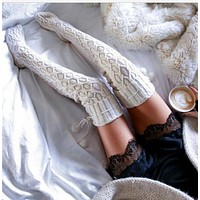 Thigh High Over The Knee Socks Long Cotton Stockings For Girls Ladies Women