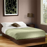 Walmart: South Shore Basics Queen Platform Bed with Molding, Chocolate