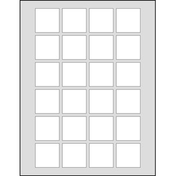 Dashleigh 120 Printable Cardstock Small Square Hang Tags, Personalize and Custom Tags, Ultra Micro Perforation, 1.5 inches, White
