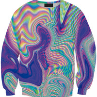 Optic Illusion Print Long Sleeve Sweatshirt