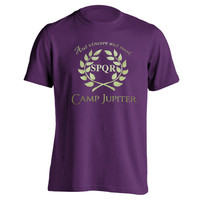 Camp JUPITER Tee s m l xl xxl - funny cool demigod Halloween costume halfblood book Percy Jackson boys new - MENS Purple T-Shirt DT0032