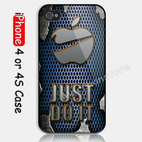 FUSION JUST DO IT AND APLLE Custom iPhone 4 or 4S Case Cover