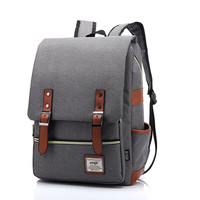 2016 Vintage Women Canvas Backpacks For Teenage Girls School Bags Large High Quality Mochilas Escolares New Fashion Men Backpack