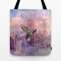Lights Will Guide You Home - Color (City Lights Series) Tote Bag by soaring anchor designs ⚓   Society6