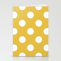 Beige and White Polka Dots Stationery Cards by Kat Mun   Society6