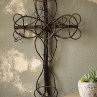 Black Vine Decorative Cross
