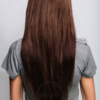 Bambina 160g 20'' Dark Brown (2) by Clip-In Hair Extensions | Professional Hair Styling Tools | Haircare by BELLAMI Hair | Clip-In Hair Extensions | Professional Hair Styling Tools | Haircare by BELLAMI Hair