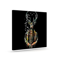 """BarmalisiRTB """"There Is No Place"""" Multicolor Deer Canvas Art"""
