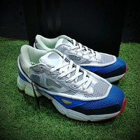 Sale Raf Simons x Adidas Consortium Ozweego 2 III Retro Sport Smart Running Shoes Beige Blue Red Trainers Shoes B26076