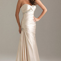 Strapless Beaded Evening Gown by Night Moves 6489