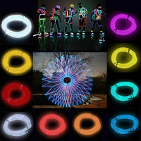 Flexible EL Wire Neon Light 3M for Dance Party Car Decor+Controller = 1946279812