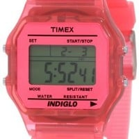 Women's Classic Digital Multi-Function Pink Resin:Amazon:Watches