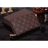 Louis Vuitton Clutch Bag Wristlet LV Classic Women Leather Print High Quality Wallet Purse