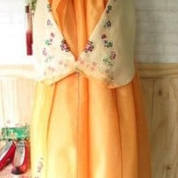 Cute Imported Korean Hanbok - Orange