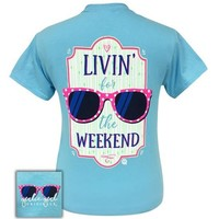 Girlie Girl Originals Preppy Livin' For The Weekend Sunglasses T-Shirt