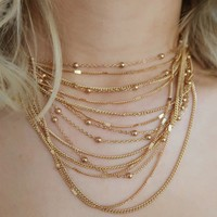 Her Story Necklace: Gold