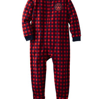 1-Piece Buffalo Check Microfleece PJs