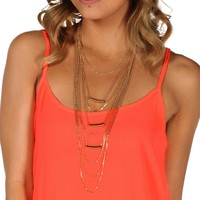 Sale-gold Long Layer Bar Necklace