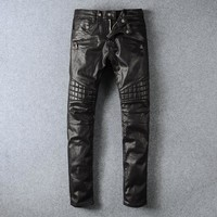 Balmain Fashion Pants Trousers Jeans black