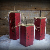 Rustic Wood Block Watermelon Slices-Perfect for Summer Decorating-Set of 3