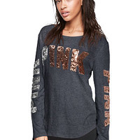Bling Football Tee - PINK - Victoria's Secret