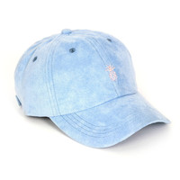 Pineapple Suede Dad Hat (Baby Blue)